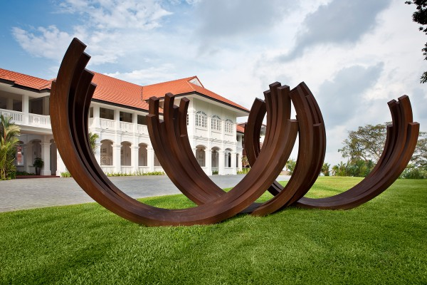 Arc by Bernar Venet   Capella Singapore
