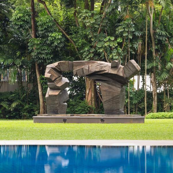 Arc by Bernar Venet   Capella Singapore